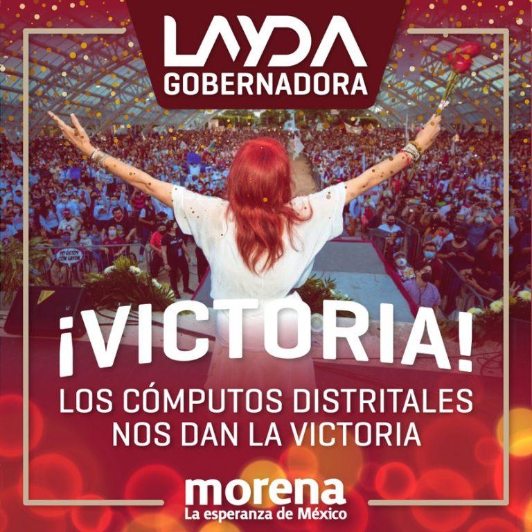 Dice Layda Sansores que juntas distritales le dan triunfo en Campeche