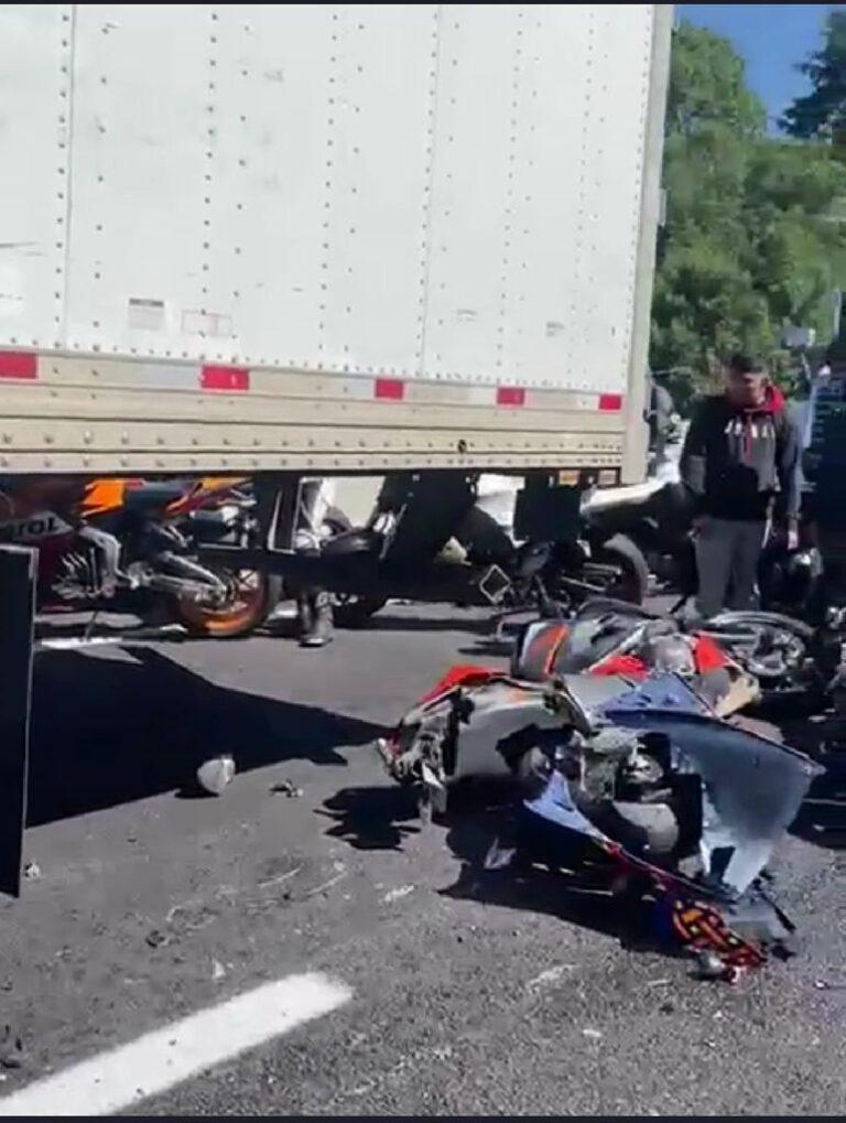 Mueren 7 motociclistas en la México-Cuernavaca