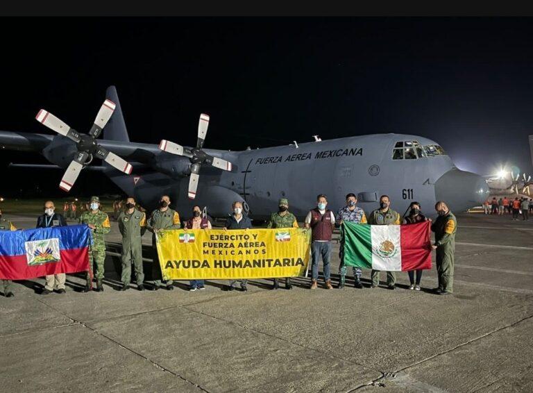 Llega ayuda de México a Haití