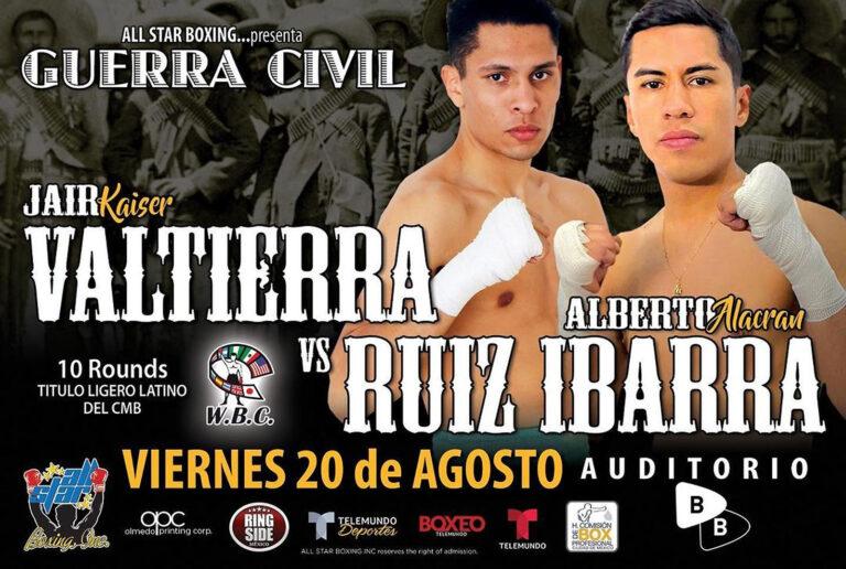 Valtierra defenderá título ante Ruiz en la CDMX